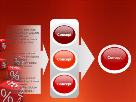 Red Percent Cubes PowerPoint Template Slide 11