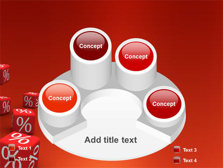 Red Percent Cubes PowerPoint Template Slide 12