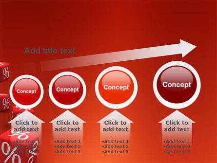 Red Percent Cubes PowerPoint Template Slide 13