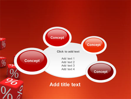 Red Percent Cubes PowerPoint Template Slide 16
