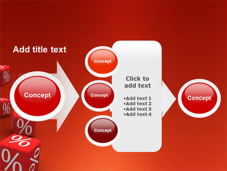 Red Percent Cubes PowerPoint Template Slide 17