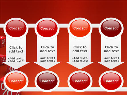Red Percent Cubes PowerPoint Template Slide 18