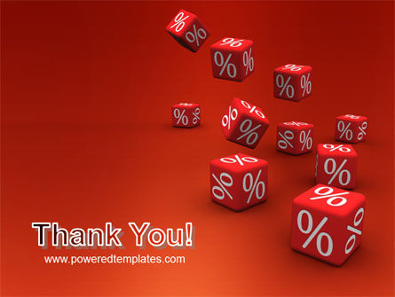 Red Percent Cubes PowerPoint Template Slide 20