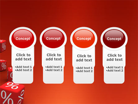 Red Percent Cubes PowerPoint Template Slide 5