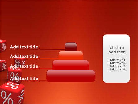 Red Percent Cubes PowerPoint Template Slide 8