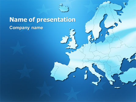 Europe PowerPoint Template, 02988, Global — PoweredTemplate.com
