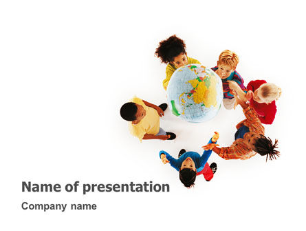 Education & Training: Kids Around Globe PowerPoint Template #02989