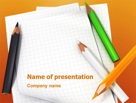 Education & Training: Notebook PowerPoint Template #02990