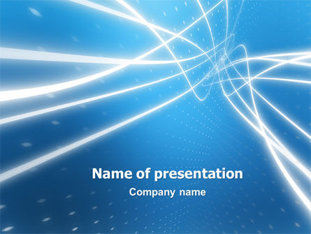 Blue Lines PowerPoint Template