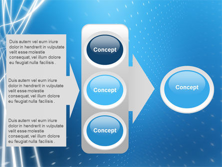 Blue Lines PowerPoint Template Slide 11