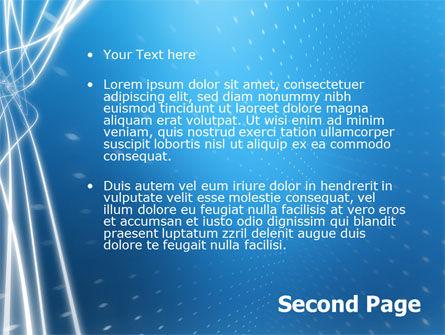 Blue Lines PowerPoint Template, Slide 2, 02991, Abstract/Textures — PoweredTemplate.com
