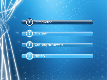Blue Lines PowerPoint Template, Slide 3, 02991, Abstract/Textures — PoweredTemplate.com