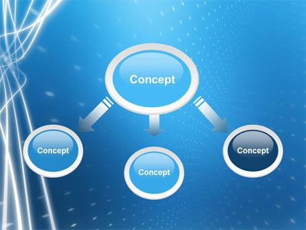 Blue Lines PowerPoint Template, Slide 4, 02991, Abstract/Textures — PoweredTemplate.com