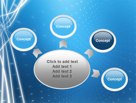 Blue Lines PowerPoint Template Slide 7