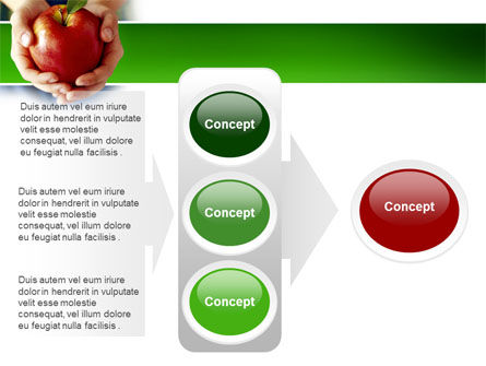 Apple In Hands PowerPoint Template Slide 11