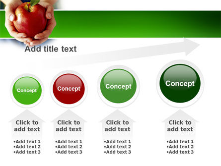 Apple In Hands PowerPoint Template Slide 13