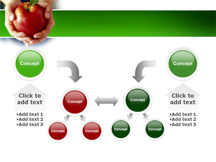 Apple In Hands PowerPoint Template Slide 19