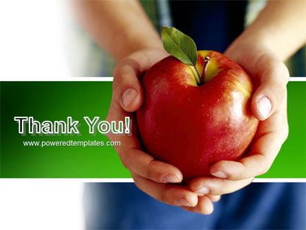 Apple In Hands PowerPoint Template Slide 20