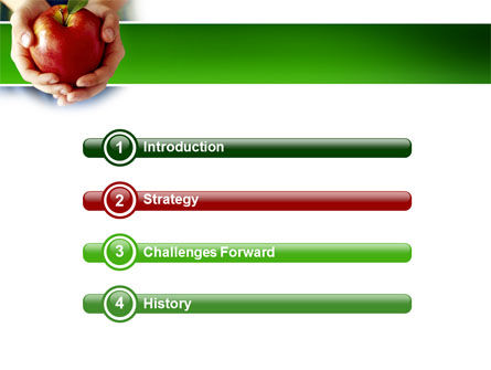 Apple In Hands PowerPoint Template, Slide 3, 02992, Agriculture — PoweredTemplate.com