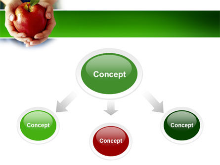 Apple In Hands PowerPoint Template, Slide 4, 02992, Agriculture — PoweredTemplate.com