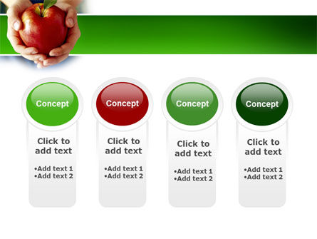 Apple In Hands PowerPoint Template Slide 5