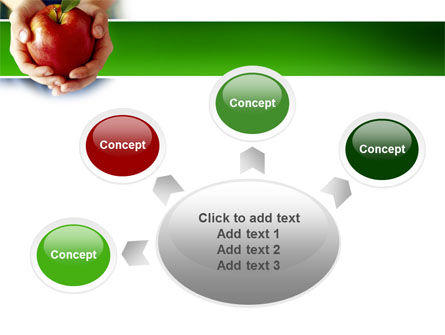 Apple In Hands PowerPoint Template Slide 7