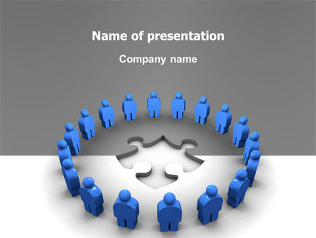 Business Concepts: Circle PowerPoint Template #02994