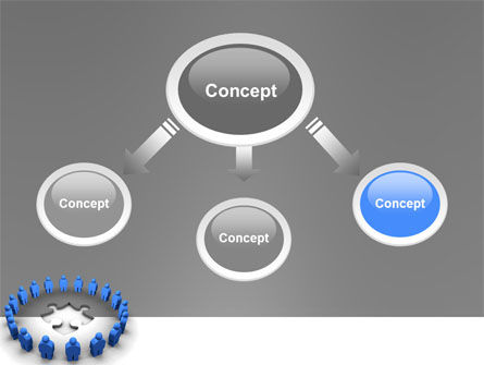 Circle PowerPoint Template, Slide 4, 02994, Business Concepts — PoweredTemplate.com