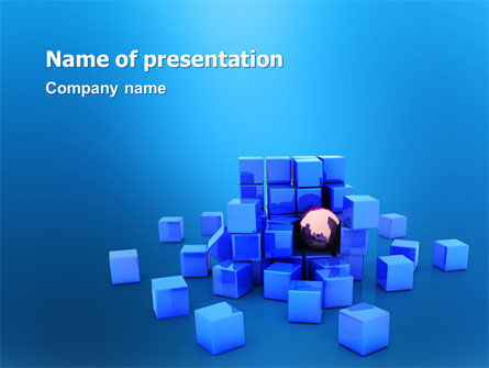Structure PowerPoint Template, 02996, Construction — PoweredTemplate.com