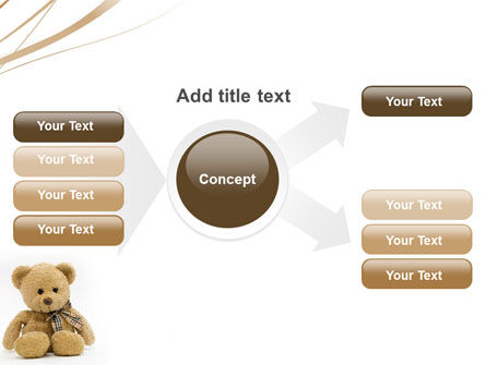 Teddy Bear On A White Background PowerPoint Template Slide 14