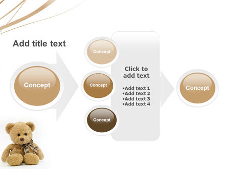 Teddy Bear On A White Background PowerPoint Template Slide 17