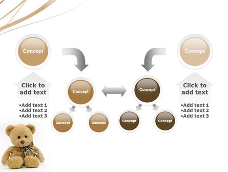 Teddy Bear On A White Background PowerPoint Template Slide 19