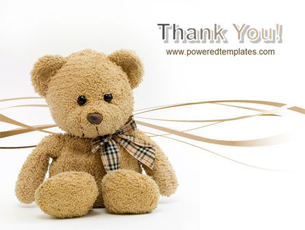 Teddy Bear On A White Background PowerPoint Template Slide 20