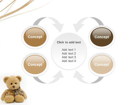 Teddy Bear On A White Background PowerPoint Template Slide 6