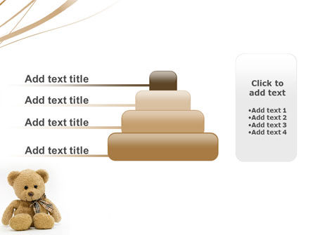 Teddy Bear On A White Background PowerPoint Template Slide 8