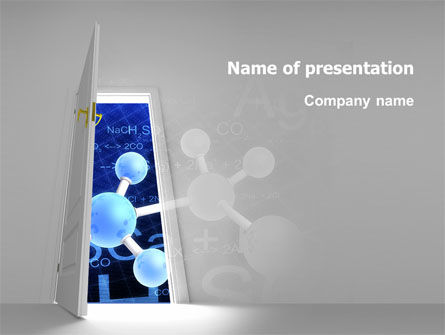 Atom Structure PowerPoint Template, 03000, Technology and Science — PoweredTemplate.com