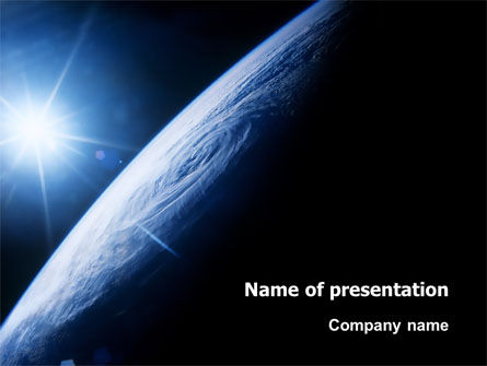 Earth From Space PowerPoint Template