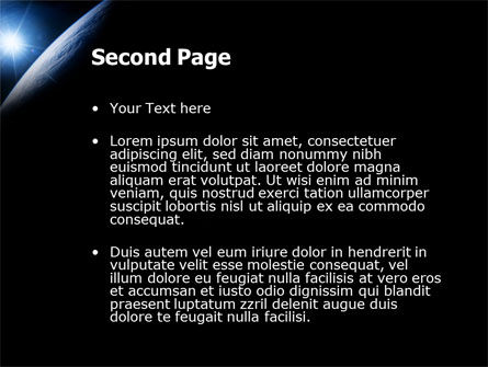 Earth From Space PowerPoint Template Slide 2