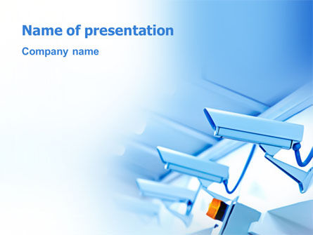 Telecommunication: Security System PowerPoint Template #03004