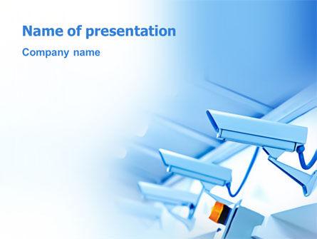 Telecommunication: Plantilla de PowerPoint - sistema de seguridad #03004
