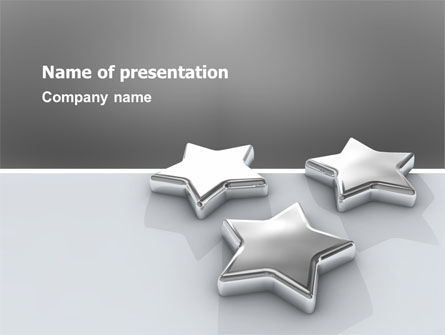Careers/Industry: Stars PowerPoint Template #03006