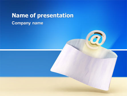 Telecommunication: You've Got Email PowerPoint Template #03007