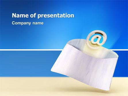Telecommunication: 你有电子邮件PowerPoint模板 #03007