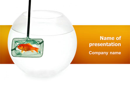 Business Concepts: Goldfish In The Nets PowerPoint Template #03008