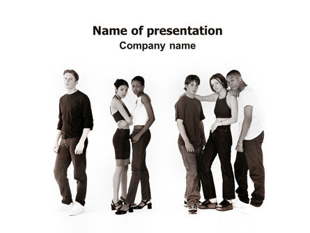 Teenagers PowerPoint Template, 03009, People — PoweredTemplate.com