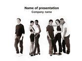 People: Teenagers PowerPoint Template #03009