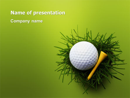 Sports: Golf Ball In The Nest PowerPoint Template #03010