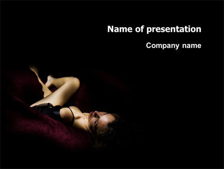 Art & Entertainment: Sexy PowerPoint Template #03012