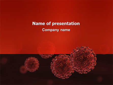 Red Corpuscles PowerPoint Template, 03014, Medical — PoweredTemplate.com