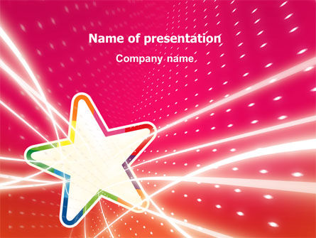 Art & Entertainment: Disco Star PowerPoint Template #03020